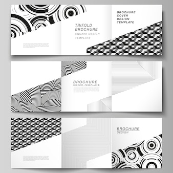 The minimal layout of square format covers design templates for trifold brochure, flyer, magazine.