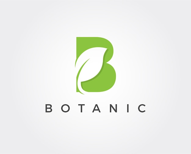 Minimal letter b logo template