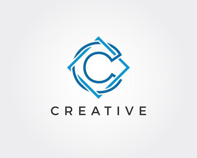 Minimal letter c logo template
