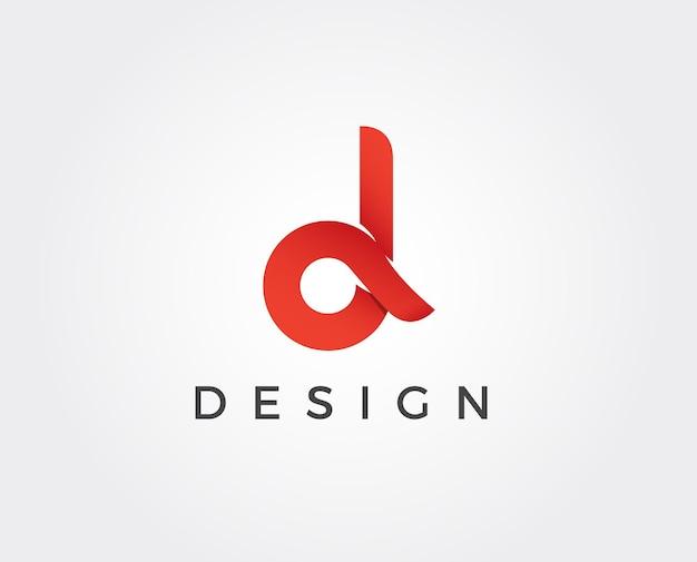 Minimal letter d logo template