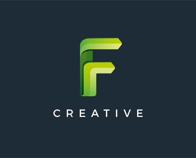 Minimal letter f logo template  illustration