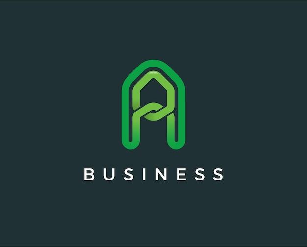 Minimal letter a logo template - illustration