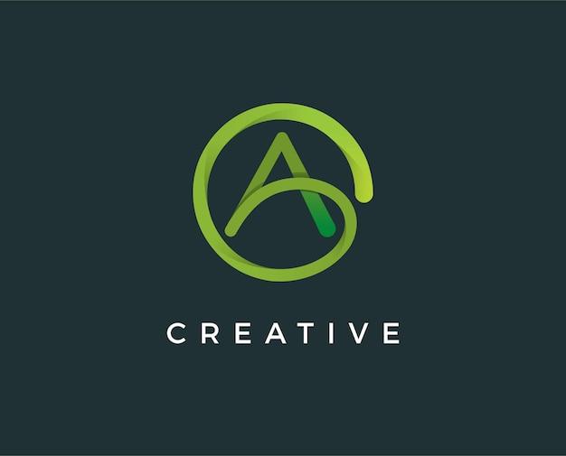 Minimal letter a logo template  illustration