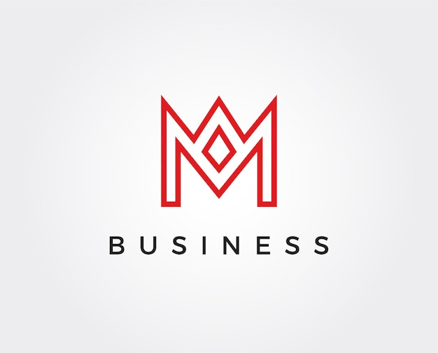 Минимальный шаблон логотипа буква м