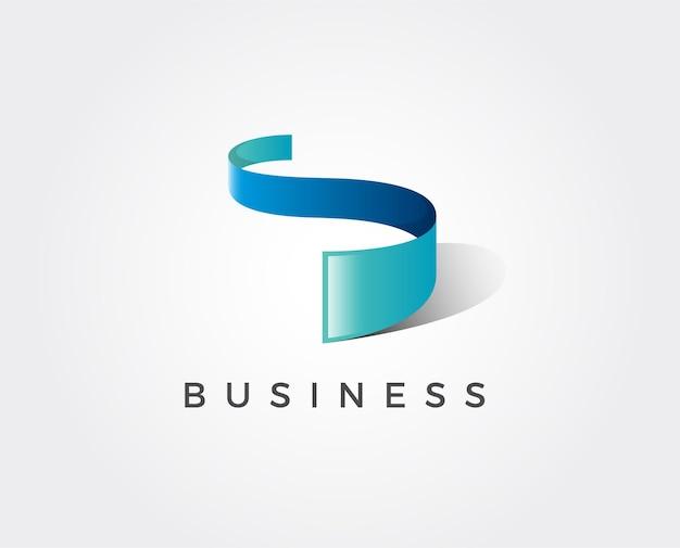 Минимальный шаблон логотипа буква s