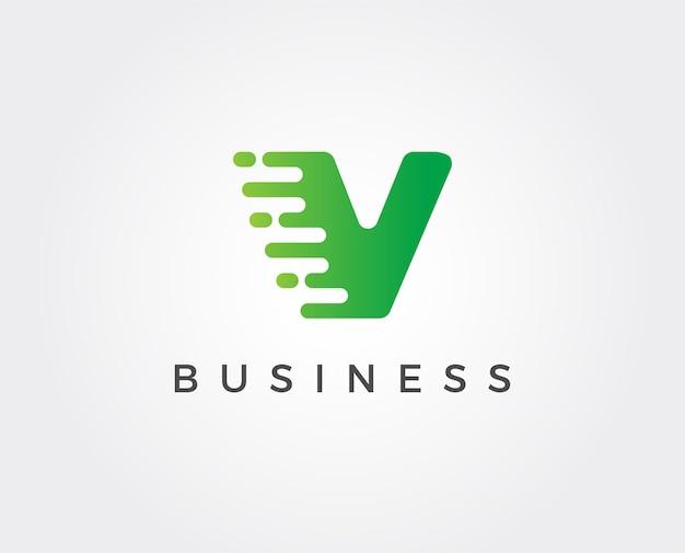 Minimal letter v logo template