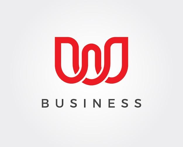 Minimal letter w logo template