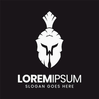 Минимальная буква w шаблон логотипа спартанского шлема