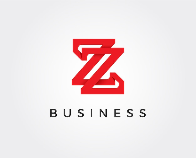 Minimal letter z logo template - illustration