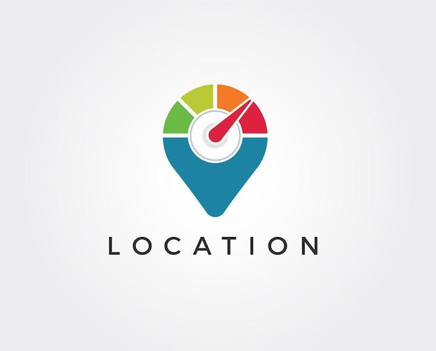 Minimal location logo template