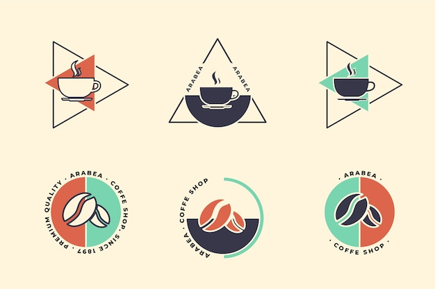 レトロなスタイルの最小限のロゴコレクション