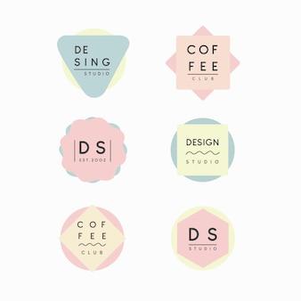 最小限のロゴコレクションパステルデザイン
