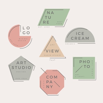 Minimal logo collection pastel design
