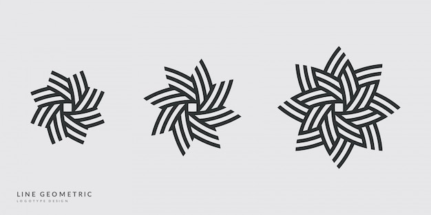 Minimal logo design. flower, sun or star symbols.