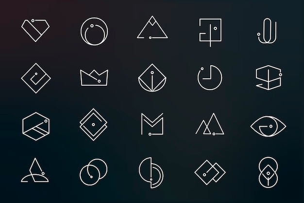 Minimal logo designs set