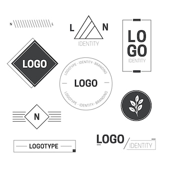 Minimal logo element collection in two colors