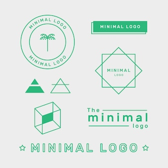 Minimal logo element set in two colors