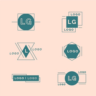 Minimal logo pack template in two colors