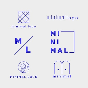 Minimal logo set template in two colors