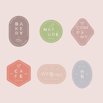 Minimal logo set with pastel colors