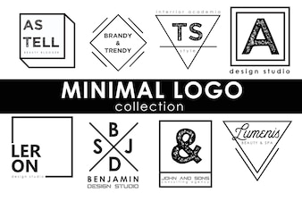 Minimal logo template collection