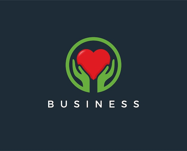 Minimal love hend logo template