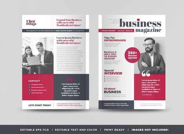 Minimal magazine cover design or editorial lookbook layout or multipurpose portfolio cover
