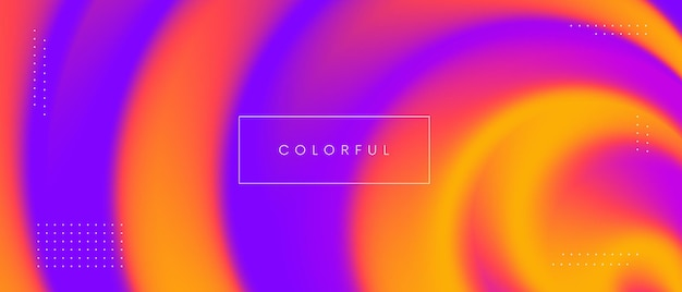 최소한의 마그마 색상 그라데이션 배경입니다. 추상 트위스트 화려한 배경 벡터 디자인입니다.