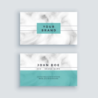 Minimal marble business card design