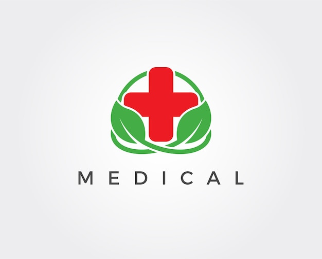 Minimal medical logo template