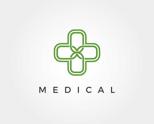 Минимальный медицинский шаблон логотипа