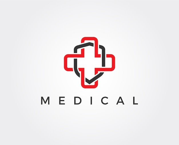 Minimal medical security logo template