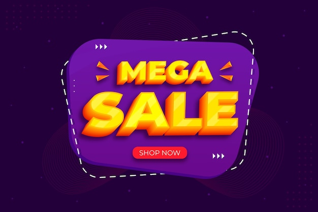 Minimal mega sale 3d design background