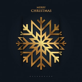 Minimal merry christmas background with gold color