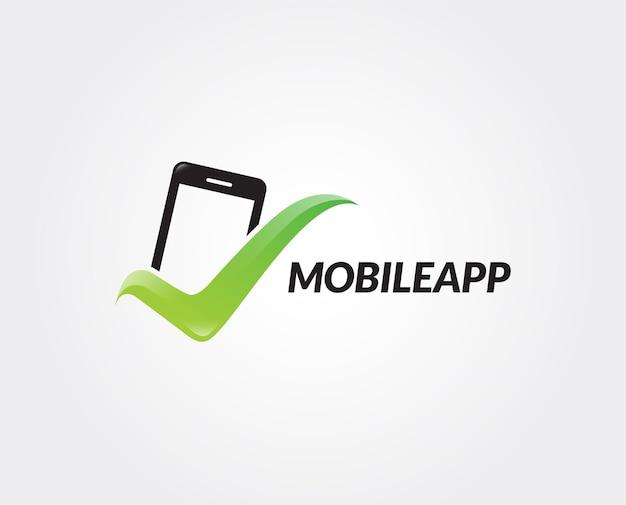Minimal mobile logo template
