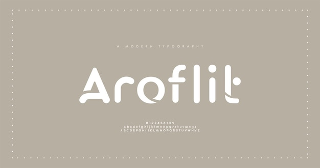 最小限のモダンなアルファベットフォント。タイポグラフィのミニマリストフォント。