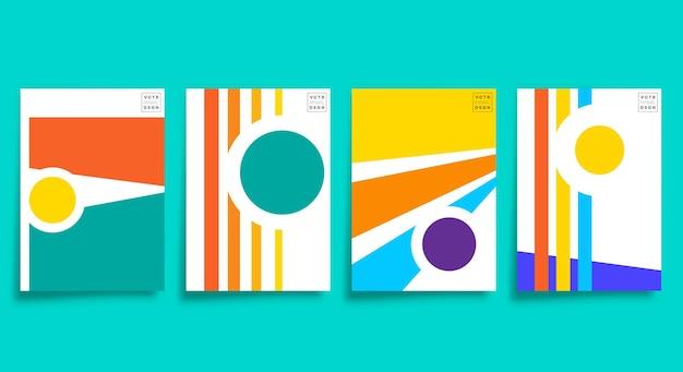 Минималистичный дизайн современного искусства для открыток, плакатов, флаеров, обложек брошюр, абстрактного фона, обоев, типографии или другой полиграфической продукции. векторная иллюстрация.