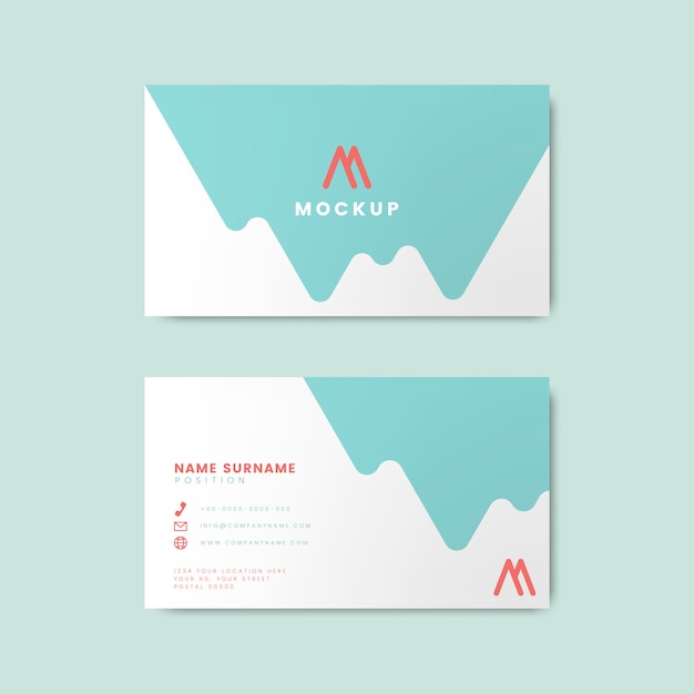 Minimal modern business card design featuring geometric elements