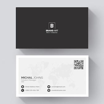 Минималистичный современный дизайн визитной карточки с серым