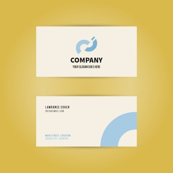 Minimal modern business card with dental clinic logo