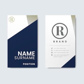 최소한의 현대 비즈니스 카드