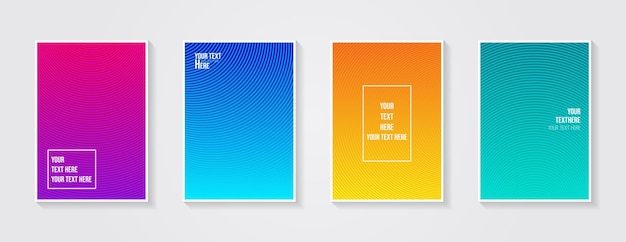 Minimal modern cover design dynamic colorful gradients future geometric patterns