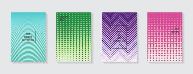 최소한의 현대적인 표지 디자인 동적 다채로운 그라디언트 미래의 기하학적 패턴