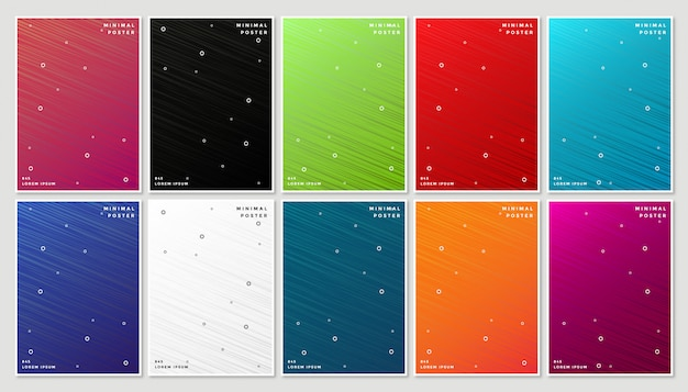 Minimal modern cover design with abstract geometric line