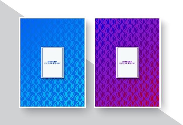 추상적 인 기하학적 라인으로 최소한의 현대 표지 디자인
