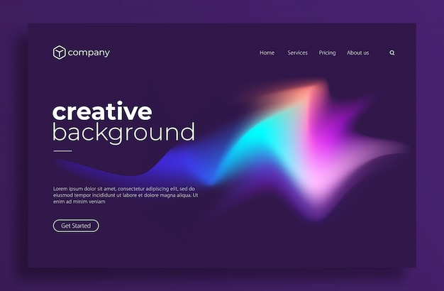 Minimal modern design for landing page or web template