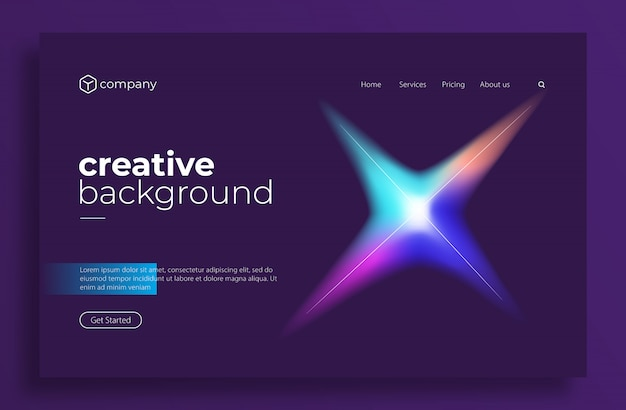 Minimal modern design for landing page or web template