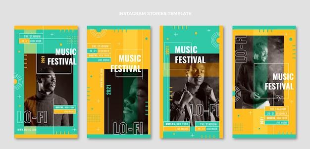 Minimal music festival instagram stories