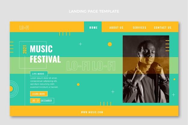 Minimal music festival landing page