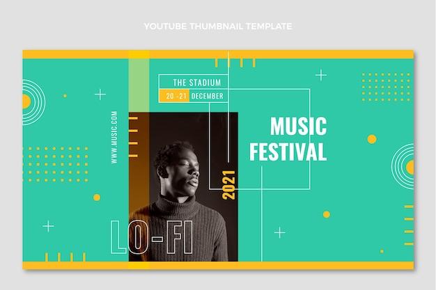 Minimal music festival youtube thumbnail